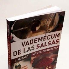 Libros de segunda mano: VADEMÉCUM DE LAS SALSAS - MÁS DE 750 RECETAS - J. M. DARÓ - LIBROS CÚPULA. Lote 151912334