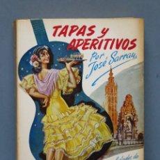 """Libros de segunda mano: TAPAS Y APERITIVOS Y TAMBIÉN """"CAFETERÍA AMERICANA"""" Y SUS ESPECIALIDADES. JOSE SARRAU. Lote 151980870"""