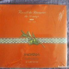 Libros de segunda mano: RECULL DE RECEPTES DE 10 ANYS 1989 - 1998 / PRECINTADO / MOSTRA GASTRONOMICA DE LLORET DE MAR / EDI.. Lote 152386238