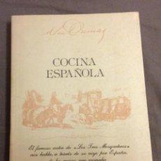 Livros em segunda mão: COCINA ESPAÑOLA. ALEJANDRO DUMAS. EDITORIAL SETECO 1982. Lote 152681218