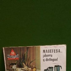 Libros de segunda mano: FOLLETO CAFETERA MAGEFESA - CON RECETAS . Lote 155288810