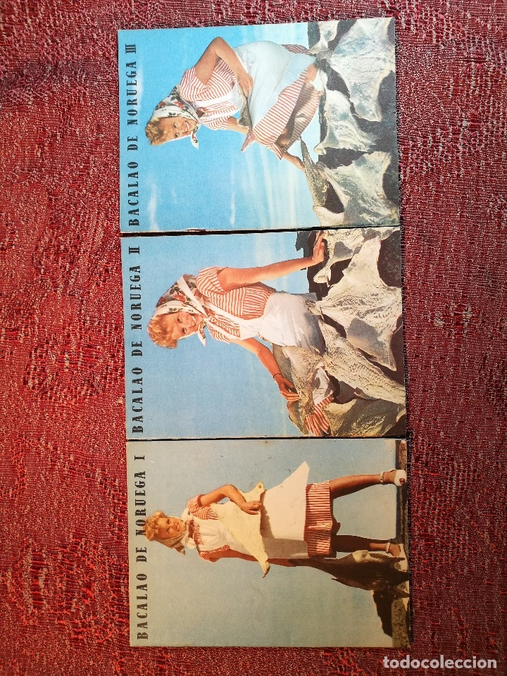 Libros de segunda mano: -BACALAO DE NORUEGA. 3 FOLLETOS CON RECETAS DE BACALAO. C. 1960. -REF-1AC - Foto 2 - 159344142