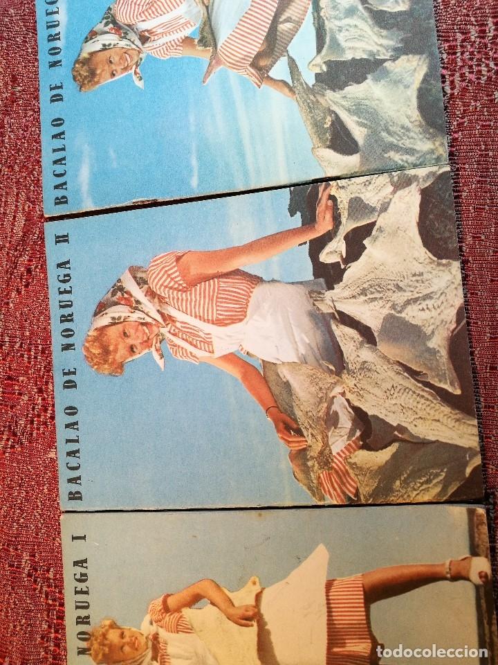 Libros de segunda mano: -BACALAO DE NORUEGA. 3 FOLLETOS CON RECETAS DE BACALAO. C. 1960. -REF-1AC - Foto 4 - 159344142