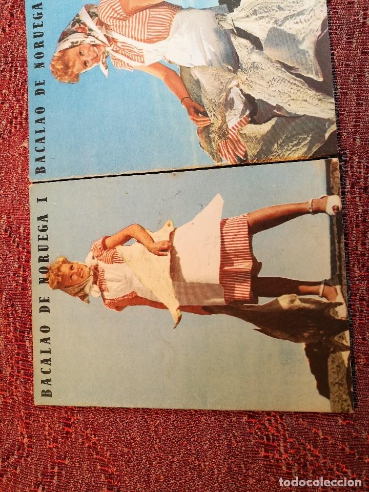 Libros de segunda mano: -BACALAO DE NORUEGA. 3 FOLLETOS CON RECETAS DE BACALAO. C. 1960. -REF-1AC - Foto 3 - 159344142