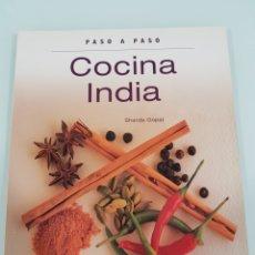 Libros de segunda mano: COCINA INDIA PASO A PASO SHARDA GOPAL. Lote 155681048