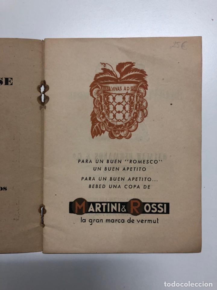 Libros de segunda mano: ANTONIO ALASÁ. EL ROMESCO. EL GRAN GUISO MARINERO TARRACONENSE. 1951 - Foto 3 - 155837010