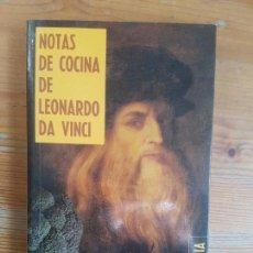 Libros de segunda mano: NOTAS DE COCINA DE LEONARDO DA VINCI ROUTH, SHELAGH TEMAS DE HOY. (1989) 215PP. Lote 155858974