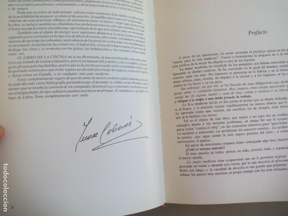 Libros de segunda mano: LA COCINA. COLETTE LELOU. ENCICLOPEDIA DEL HOGAR. EDITORIAL MAYPECA. 1973. VALENCIA - Foto 4 - 155864158