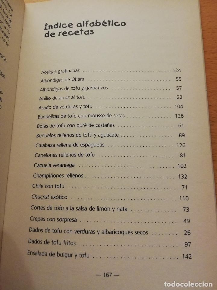 Libros de segunda mano: COCINAR CON TOFU. RECETAS SABROSAS Y NUTRITIVAS PARA TODOS LOS GUSTOS (MARGARITA STEVANON) - Foto 3 - 155864534