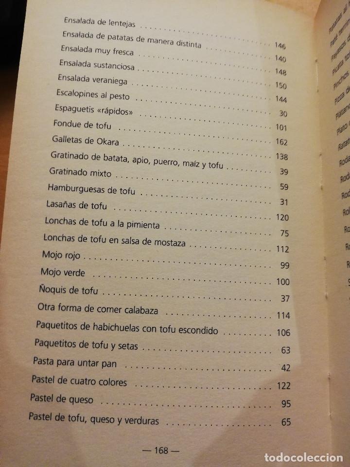 Libros de segunda mano: COCINAR CON TOFU. RECETAS SABROSAS Y NUTRITIVAS PARA TODOS LOS GUSTOS (MARGARITA STEVANON) - Foto 4 - 155864534
