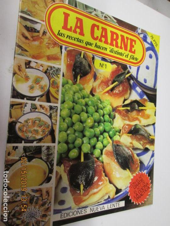 LA CARNE , LAS RECETAS QUE HACEN DISTINTO EL FILETE Nº 1 Y 2 , NUEVA LENTE AÑO 1980 (Libros de Segunda Mano - Cocina y Gastronomía)