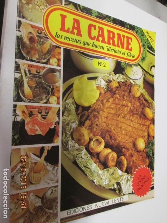 Libros de segunda mano: LA CARNE , LAS RECETAS QUE HACEN DISTINTO EL FILETE Nº 1 Y 2 , NUEVA LENTE AÑO 1980 - Foto 2 - 155866838