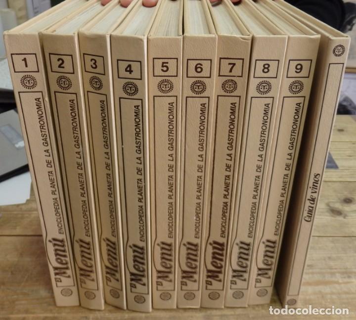 EL MENÚ, ENCICLOPEDIA DE LA GASTRONOMÍA. 9 VOLUMENES+1 VINOS.EDIT. PLANETA 1982. ¡¡COMPLETA!! (Libros de Segunda Mano - Cocina y Gastronomía)