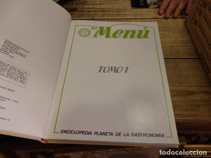 Libros de segunda mano: El Menú, Enciclopedia de la Gastronomía. 9 Volumenes+1 Vinos.Edit. Planeta 1982. ¡¡COMPLETA!! - Foto 3 - 156813994