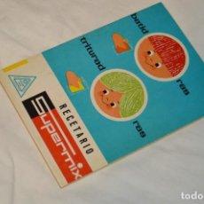 Libros de segunda mano: VINTAGE Y ANTIGUO - RECETARIO SUPERMIX DE BATERIA DE COCINA HISPANO SUIZA - ¡MIRA FOTOS!. Lote 157455994