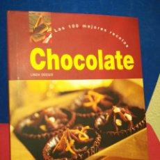 Libros de segunda mano: CHOCOLATE, LAS 100 MEJORES RECETAS - LINDA DOESER - PARRAGON, 2004. Lote 158856221