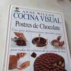 Libros de segunda mano: POSTRES DE CHOCOLATE, DE ANNE WILLAN. COCINA VISUAL. ÚNICO EN TC. MUY ILUSTRADO.. Lote 158919906