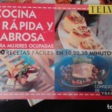 Libros de segunda mano: COCINA RAPIDA Y SABROSA TELVA. Lote 159733742