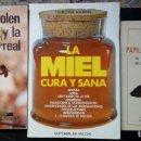 Libros de segunda mano: LOTE 3 LIBROS APICULTURA, MIEL, JALEA REAL, ABEJAS. SALUD MEDICINA NATURAL. Lote 160347010