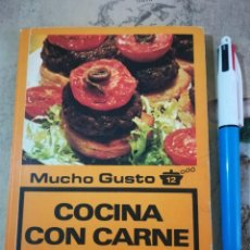 Libros de segunda mano: COCINA CON CARNE PICADA - LOS LIBROS DE MUCHO GUSTO 12 - 1979. Lote 161234746