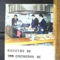 Libros de segunda mano: RECETAS DE 200 COCINEROS DE SOCIEDADES VASCAS JOSÉ CASTILLO 1979 IMPECABLE IMPRENTA ONDARRIBI. Lote 162544694