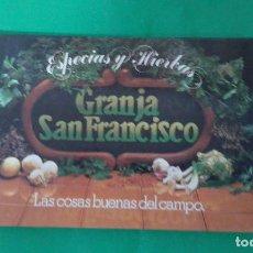 Libros de segunda mano: ESPECIAS Y HIERVAS,GRANJA SAN FRANCISCO, LAS COSAS BUENAS DEL CAMPO. Lote 165072662