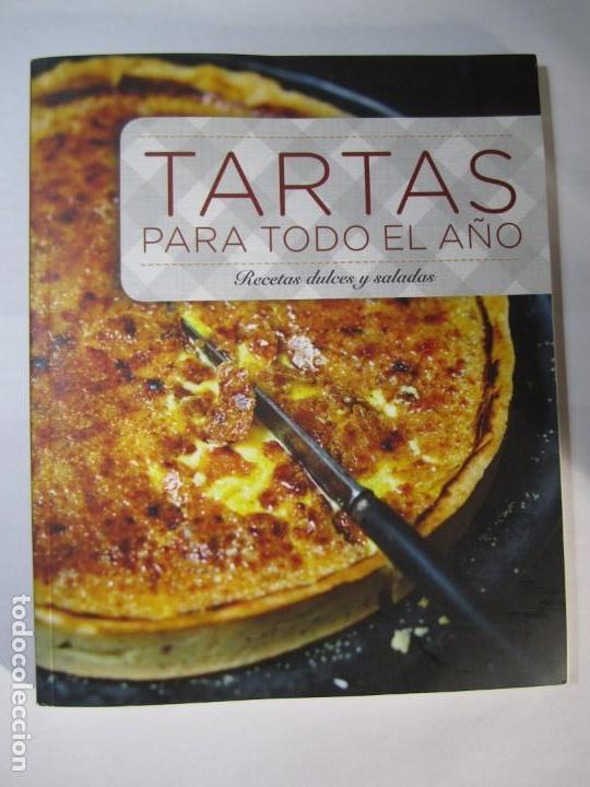 LIBRO TARTAS PARA TODO EL AÑO RECETAS DULCES Y SALADAS VIRGINE GARNIER (Libros de Segunda Mano - Cocina y Gastronomía)