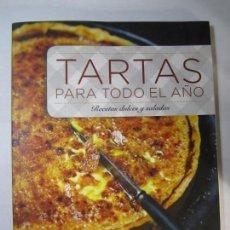 Libros de segunda mano: LIBRO TARTAS PARA TODO EL AÑO RECETAS DULCES Y SALADAS VIRGINE GARNIER. Lote 165138702