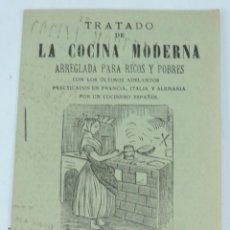 Libros de segunda mano: TRATADO DE LA COCINA MODERNA ARREGLADA PARA RICOS Y POBRES. IMP. UNIVERSAL, 1900 APROX. CON LOS ULTI. Lote 165446730