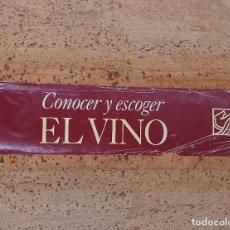 Libros de segunda mano: CONOCER Y ESCOGER EL VINO - 1 ARCHIVADOR CON 213 FICHAS - SALVAT/HACHETTE - ENOLOGÍA. Lote 165476814