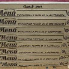 Libros de segunda mano: LIBROS DE COCINA - EL MENU, ENCICLOPEDIA PLANETA DE LA GASTRONOMÍA + GUÍA DE VINOS. Lote 167239742