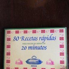 Libros de segunda mano: 80 RECETAS RÁPIDAS - ED. MICASA. Lote 167488205