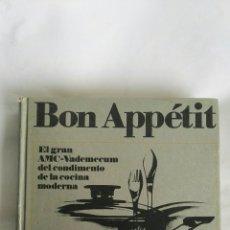 Libros de segunda mano: BON APPÉTIT EL GRAN AMC-VADEMECUM DEL CONDIMENTO DE LA COCINA MODERNA. Lote 170675227