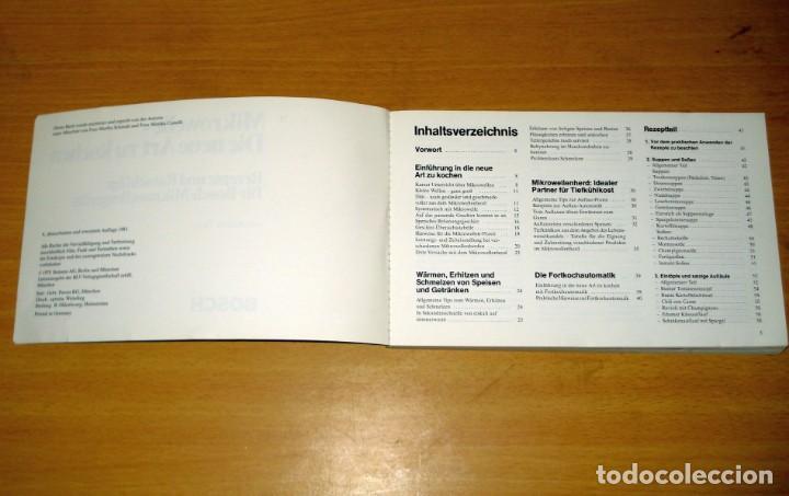 Libros de segunda mano: MICROONDAS - LA NUEVA FORMA DE COCINAR / RECETAS Y CONSEJOS. ED Siemens AG (Alemania). 1981. ALEMÁN. - Foto 2 - 171168845