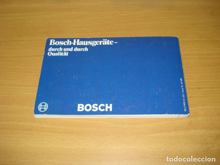 Libros de segunda mano: MICROONDAS - LA NUEVA FORMA DE COCINAR / RECETAS Y CONSEJOS. ED Siemens AG (Alemania). 1981. ALEMÁN. - Foto 6 - 171168845
