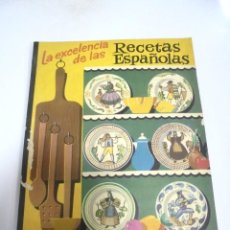 Libros de segunda mano: LA EXCELENCIA DE LAS RECETAS ESPAÑOLAS. GALLETAS ARTIACH. 5º EDICION. BILBAO. 56 PAGINAS . Lote 171557015