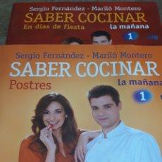 Libros de segunda mano: LOTE LIBROS SABER COCINAR DE SERGIO FERNÁNDEZ MARILÓ MONTERO. POSTRES, RECETAS LIGHT, DIAS DE FIESTA. Lote 171695007