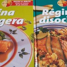 Libros de segunda mano: LOTE LIBROS DE RECETAS AL MINUTO- LISTAS EN.MENOS DE 30 MINUTOS.-COCINA LIGERA- RÉGIMEN DISOCIADO. Lote 171696140