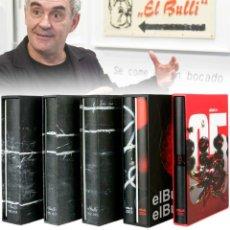 Libros de segunda mano: EL BULLI FERRAN ADRIA. COLECCIÓN 5 TOMOS PRECINTADOS Y DVDS. Lote 168981608