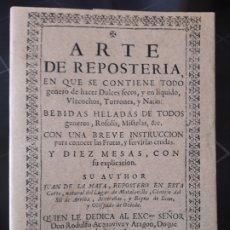 Libros de segunda mano: ARTE DE REPOSTERIA JUAN DE LA MATA, ED. MAXTOR. Lote 172154405