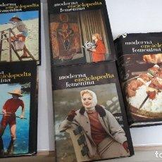 Libros de segunda mano: MODERNA ENCICLOPEDIA FEMENINA (5 TOMOS, COMPLETA). Lote 173457350