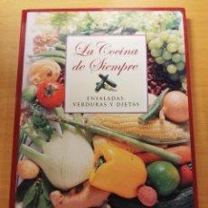 Libros de segunda mano: LA COCINA DE SIEMPRE. ENSALADAS, VERDURAS Y DIETAS (CLUB INTERNACIONAL DEL LIBRO). Lote 173680515