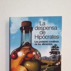 Libros de segunda mano: LA DESPENSA DE HIPÓCRATES. LOS PODERES CURATIVOS DE LOS ALIMENTOS. ANTONIO PALOMAR. TDK401. Lote 174123208