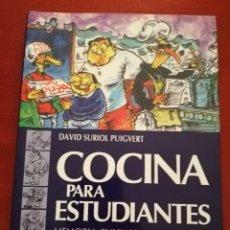 Libros de segunda mano: COCINA PARA ESTUDIANTES. MEMORIA CULINARIA DE ESTELLA 10 (DAVID SURIOL PUIGVERT). Lote 175981018