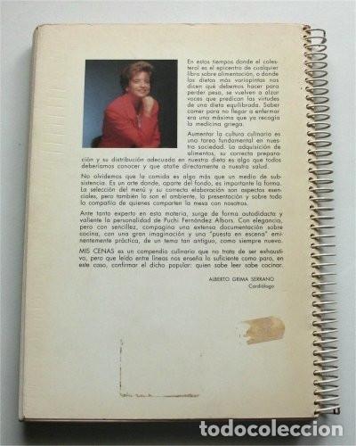 Libros de segunda mano: Mis Cenas. Puchi Fernández Albors - Foto 5 - 176603890