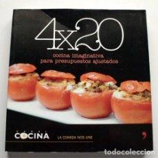 Libros de segunda mano: 4X20 COCINA IMAGINATIVA PARA PRESUPUESTOS AJUSTADOS. CANAL COCINA. Lote 176864033