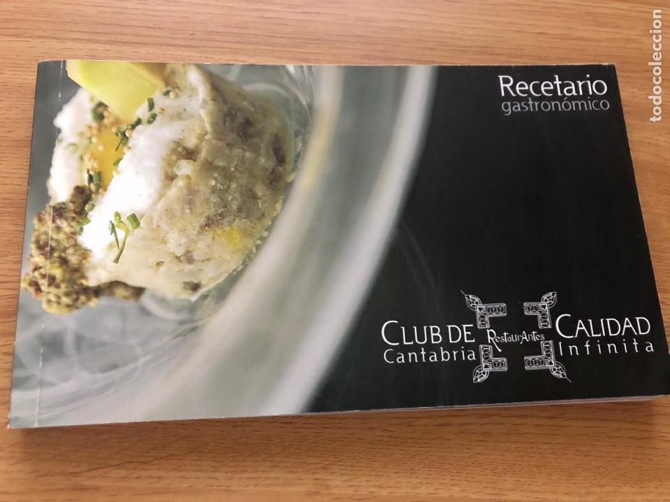 RECETARIO GASTRONÓMICO DE CANTABRIA (Libros de Segunda Mano - Cocina y Gastronomía)