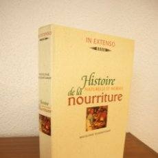 Libros de segunda mano: MAGUELONNE TOUSSAINT-SAMAT: HISTOIRE NATURELLE ET MORALE DE LA NOURRITURE (LAROUSSE, 1997) 958 PP.. Lote 177051193