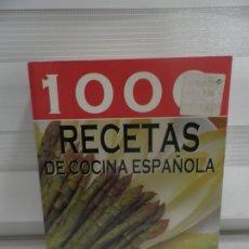 Libros de segunda mano: 1000 RECETAS DE COCINA ESPAÑOLA SERVILIBRO. Lote 177433012