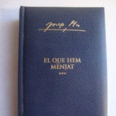 Libros de segunda mano: JOSEP PLA - OBRA COMPLETA DE JOSEP PLA. VOLUM XXII EL QUE HEM MENJAT (DESTINO, 2004). 543 PÀG.. Lote 178600257